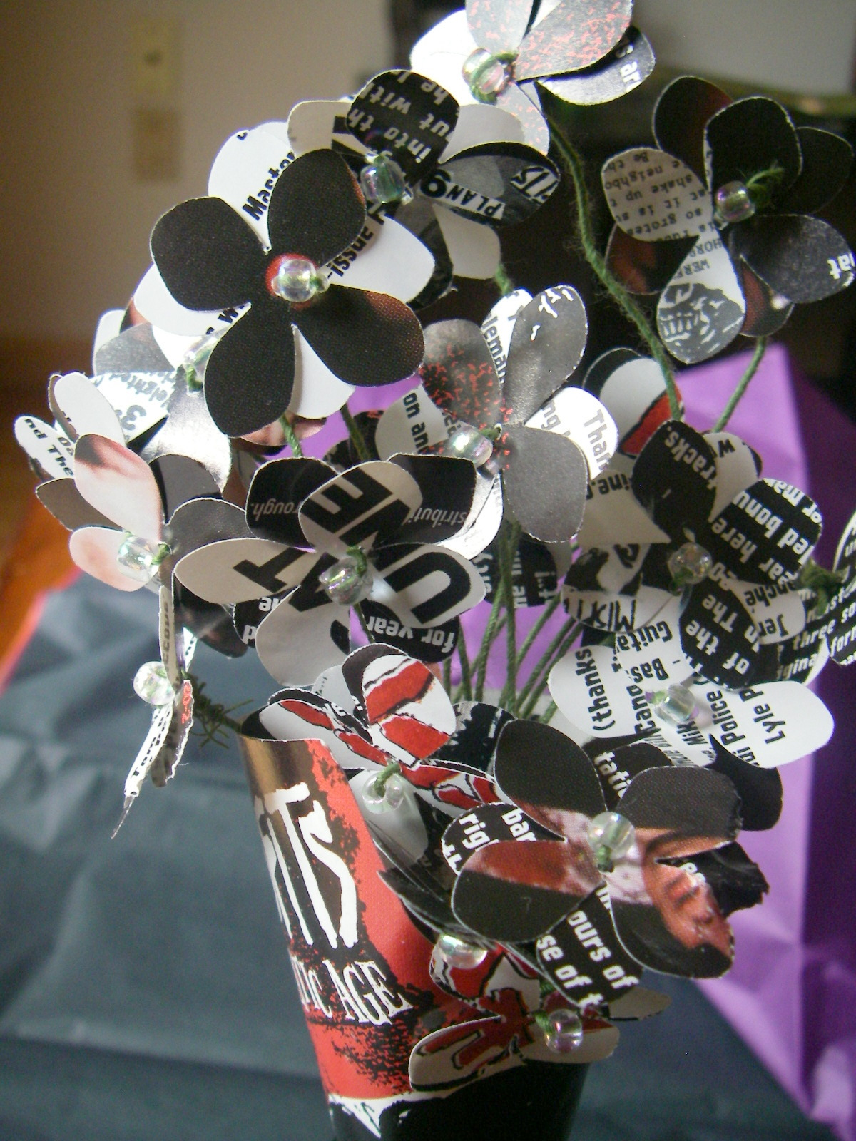 Liner Note Bouquets Musical Up Cycling Mary Makes Good