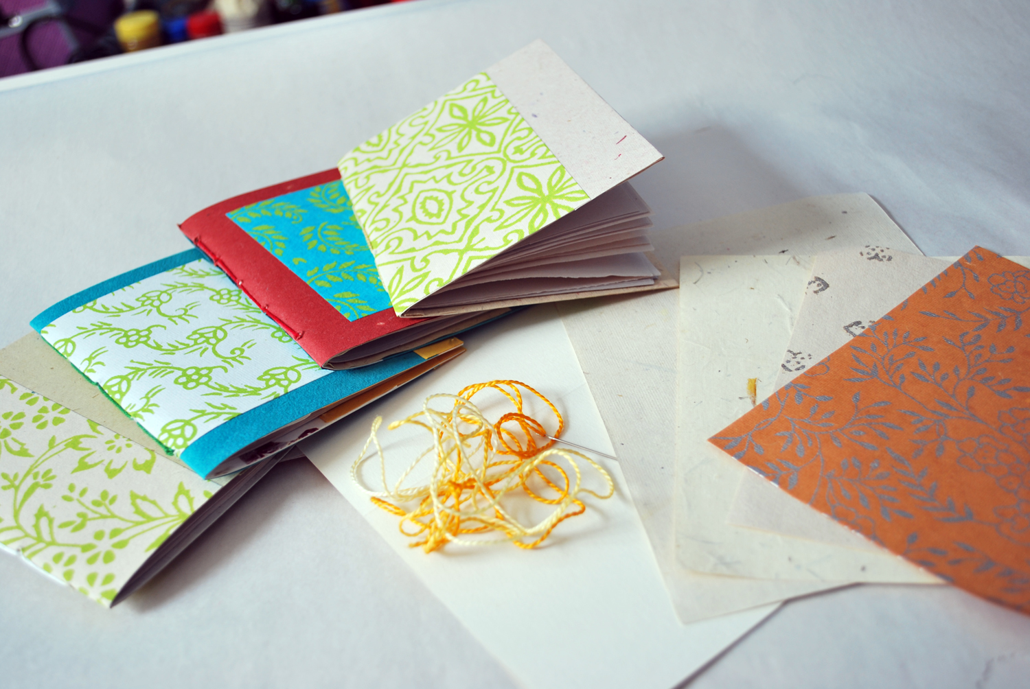 How to make notebooks from greeting cards mary makes pretty these pretty little handmade notebooks are made with collage paper newsprint embroidery floss and greeting cards you can use blank greeting cards or kristyandbryce Choice Image